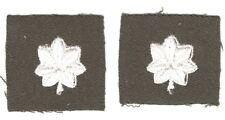 Cloth Military Badge:  Lt Colonel (pair) - on chocolate gabardine