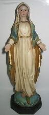 Maria Madonna, 21cm, Deko Figur, steht auf Schlange, Polyresin, 21x7cm