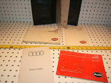Audi 1990  80 & 80 Quattro owner's OEM 1 set of  5 Manual and Audi BLACK 1 Pouch