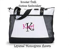 Personalized Tote bag shopping book monogram black diaper business Teacher Nurse