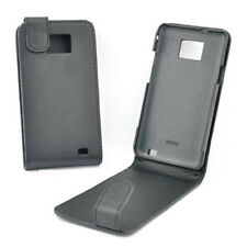 custodia eco PELLE nera cover anti-shock per SAMSUNG i9100 Galaxy s2 + pellicola