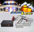 18 White/Amber LED Emergency Hazard Flashing Warning Strobe Dash/Grill/Bar Light