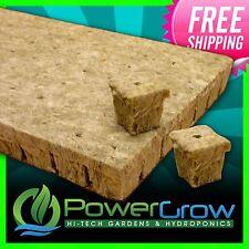 """Grodan A OK Rockwool Hydroponic Starter Cubes Plugs 1"""" x 1 inch 100 Pack"""