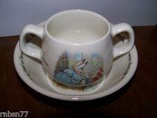 Peter Rabbit Wedgwood Bowl and 2 Handled Mug