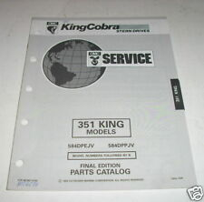 OMC King Cobra 351 Stern Drives Parts Catalog 1993