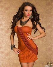 4365 Senza spalline mini abito a Fascia vestito abito Tgl 34 36 Terracotta