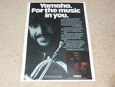 Yamaha Speaker Ad, Chuck Mangione in Ad, Article, 1 pg, 1981