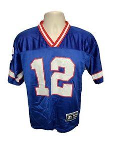 Vtg 1995 Starter Buffalo Bills Jim Kelly #12 Mens Small Blue Jersey