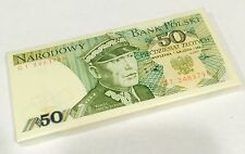 POLAND 50 ZLOTYCH 1988 P 142 UNC (BUNDLE of 100 NOTES)