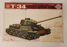 CROWN VERY RARE T-34 SOVIET UNION TANK MOTORIZED MODEL KIT 1/35