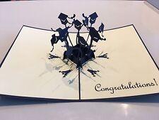 Mi congratulo Flying LAUREA Berretti fatti a mano carta 3d Pop Up & origami