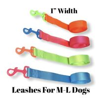 Dog Leashes Assorted Neon Colors 4Ft Long