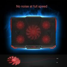 Adjustable Angle Top USB Cooling Pad 5 Fans Cooler For 14-17 Inch Laptop Stand M