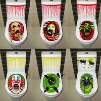 Halloween Toilet Seat Grabber Cover Sticker Scary Horror Bathroom Party Decor