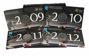 £5 FIVE POUND COIN PACKS OLYMPIC COUNTDOWN / PRESENTATION PACKS ROYAL MINT