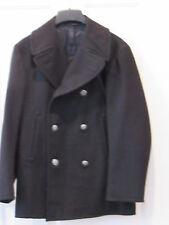 US NAVY Pea Coat USN 100% Wool Coat Jacket 38 short 38S Metal buttons enlisted