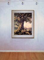 An Ancient Tree 22x30 Hand Numbered Ltd. Edition Maxfield Parrish Art Deco Print