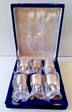 VINTAGE~ 6 SILVER PLATED~STEM CUPS MADE IN INDIA
