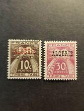 FRANCE COLONIE ALGERIE TIMBRE TAXE N°33/34 NEUF * MH 1947