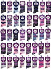 Ladies Gentle Grip Cotton Socks   Mystery Mix   6,9,12 or 18 Pairs   UK Size 4-8