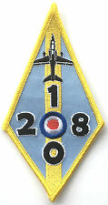RAF No.208 Squadron 100 Years Official Crest Royal Air Force Embroidered Patch