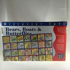 NEW Discovery Toys Bears Boats & Butterflies Large Alphabet Puzzle 28 pc 2003