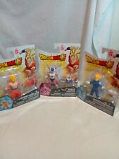 Dragon Ball Super - 3 Action Figures - Goku - Frieza - Vegeta - New