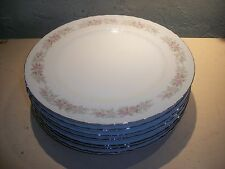 """8 DANISCO COLLECTION, TEAHOUSE ROSE FINE CHINA DINNER PLATE,10-3/8"""""""