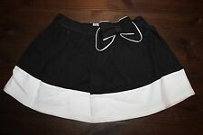 NWT Olivia for Gymboree Size 5T Black White Bow Knit Skirt