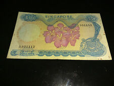 Singapore Orchid $50 HSS w/o seal note