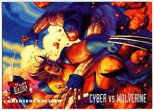 Cyber Vs Wolverine #130 Marvel '95 Fleer Ultra X-Men Trade Card (C294)