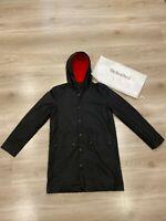 MALLE LONDON MALLE MEN'S PARKA COAT IN BLACK JACKET SIZE - XS (X-SMALL) BNWT