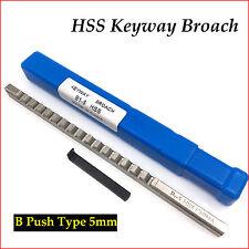 Metric Broach Keyway 5mm B Push Type Cutter & Shim Involute Spline Cutting Tool