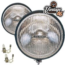 """Ford Cortina Mk2 Classic Rally Style 6"""" Halogen Driving Lamps Spot Lights Pair"""