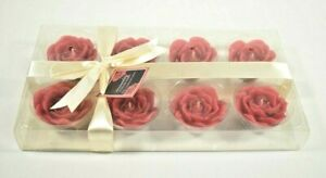 Sensuality Collection: Hand Crafted Flower Candles (8 Pack) Weddings Parties New