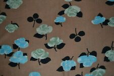 Silky synthetic knit fabric, floral print in 2 pieces, 2.25 yards total