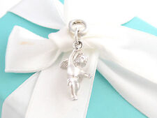 Tiffany & Co Silver Angel Cherub Charm Pendant For Necklace Bracelet Box