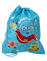 Zoggs Kids Swim swimming Ruck Sack For Wet Cloths And Towels, Blue Pool Bag