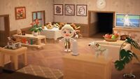 New Horizons - 🍽️❤️40 Pieces Cute Wood Log Living Dining Room Item Set 🍽️❤️