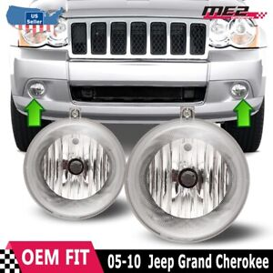 For Jeep Grand Cherokee 05-10 Bumper Replacement Fit Fog Lights  DOT Clear Lens
