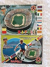 2 CARTOLINE CAMPIONATO EUROPEO CALCIO 1980 EUROPEI STADIO SAN PAOLO NAPOLI