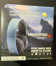 Sony GOLD Wireless Stereo Headset [ Uncharted 4 Gray Blue Special Edition ] NEW