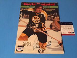Phil Esposito HOF 1973 Sports Illustrated Hockey SI Signed Auto PSA/DNA COA