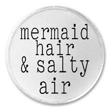 "Mermaid Hair And Salty Hair - 3"" Sew / Iron On Patch Beach Ocean Lover Sea Gift"