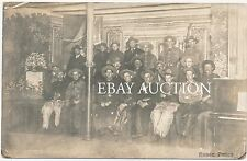20 PIONEER COWBOYS SIT FOR A HISTORIC WOOLIE CHAPS HAT REAL PHOTO POSTCARD RPPC