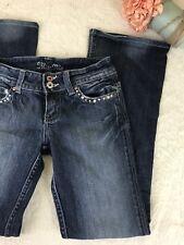 MISS ME Lucille Denim Flap Pocket Jeans Baltimore Dark Jean Sz 25 Bootcut Flare