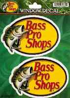 Bass Pro Shops Sticker 4.5in each Fishing decal set of 2 stickers si