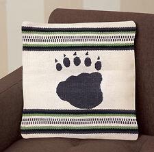 """Virah Bella® """"Beige Bear Paw"""" Lodge Accent Pillow"""