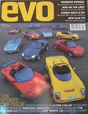 EVO 07/2001 Issue 33 featuring TVR Chimaera, BMW M Roadster, AMG, MG, Bentley