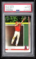 MIKE TROUT  ANGELS  2019 TOPPS #100 LEAPING  - PSA 10 GEM MINT   QTY.